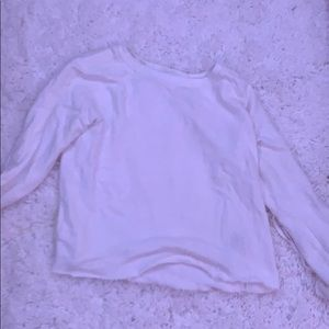 ABERCROMBIE AND FITCH WHITE CREWNECK